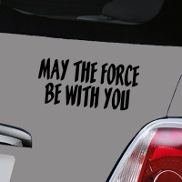 May The Force Be With You Decal - Black